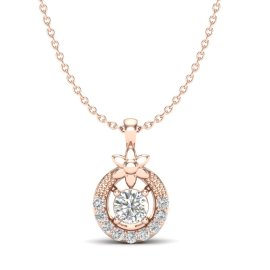 0.21 CTW Diamond Pendant 14KT Rose Gold