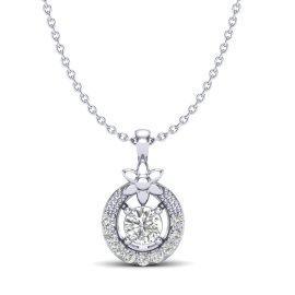 0.21 CTW Diamond Pendant 18KT White Gold