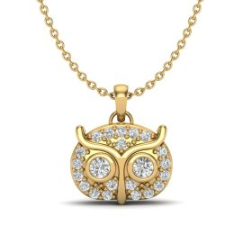 0.17 CTW Diamond Pendant 18KT Yellow Gold