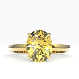 2.5 CTW Citrine Ring 18KT Yellow Gold