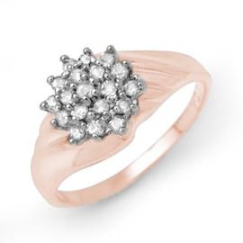 0.25 CTW Diamond Ring 18KT Rose Gold