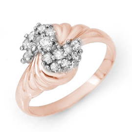 0.25 CTW Diamond Ring 18KT Rose Gold