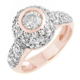 2.2 CTW Diamond Ring 18KT Rose Gold