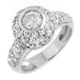 2.2 CTW Diamond Ring 18KT White Gold