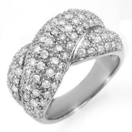 2.05 CTW Diamond Ring 18KT White Gold