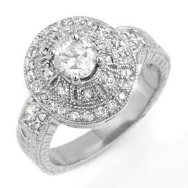 1.33 CTW Diamond Ring 18KT White Gold
