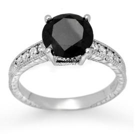3 CTW Diamond Ring 18KT White Gold