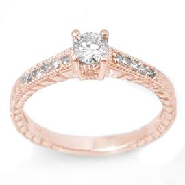 0.70 CTW Diamond Ring 14KT Rose Gold