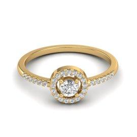 0.45 CTW Diamond Ring 18KT Yellow Gold