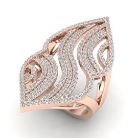2 CTW Diamond Ring 14KT Rose Gold