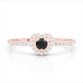 0.37 CTW Diamond Ring 14KT Rose Gold
