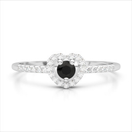 0.37 CTW Diamond Ring 18KT White Gold