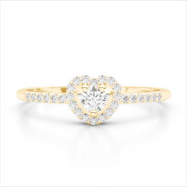 0.33 CTW Diamond Ring 18KT Yellow Gold