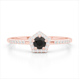 0.45 CTW Diamond Ring 14KT Rose Gold
