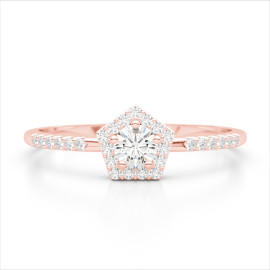 0.40 CTW Diamond Ring 14KT Rose Gold