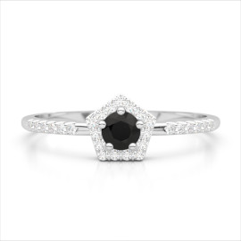 0.45 CTW Diamond Ring 18KT White Gold
