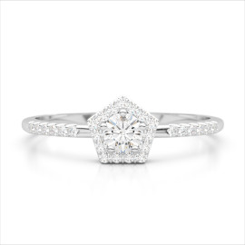 0.40 CTW Diamond Ring 18KT White Gold