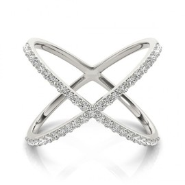 0.55 CTW Diamond Ring 18KT White Gold