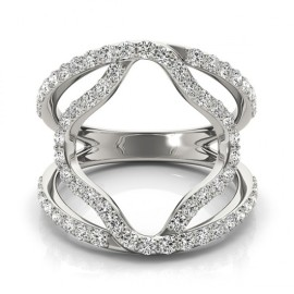 0.75 CTW Diamond Ring 18KT White Gold
