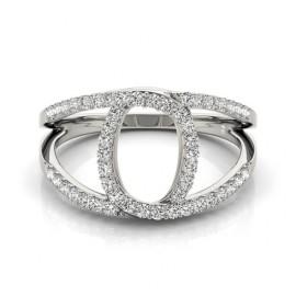 0.65 CTW Diamond Ring 14KT White Gold