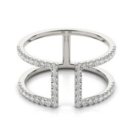 0.65 CTW Diamond Ring 18KT White Gold