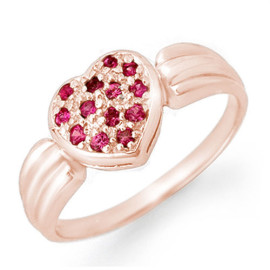 0.40 CTW Sapphire Ring 18KT Rose Gold