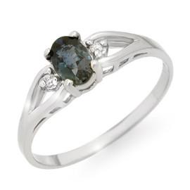 0.52 CTW Sapphire & Diamond Ring 18KT White Gold