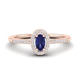 0.43 CTW Tanzanite & Diamond Ring 14KT Rose Gold