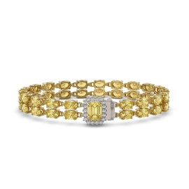 13.88 CTW Citrine Bracelet 14KT Yellow Gold