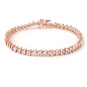1.0 CTW Diamond Bracelet 18KT Rose Gold