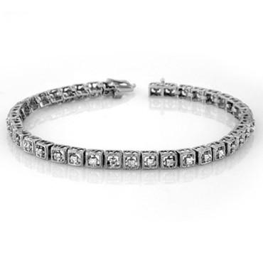 1.0 CTW Diamond Bracelet 18KT White Gold