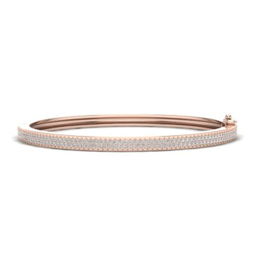 1.50 CTW Diamond Bracelet 14KT Rose Gold