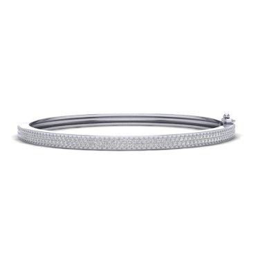 1.50 CTW Diamond Bracelet 14KT White Gold