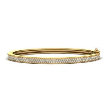 1.50 CTW Diamond Bracelet 14KT Yellow Gold