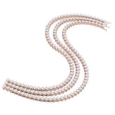 10 CTW Diamond Bracelet 18KT Rose Gold