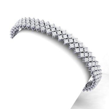 10 CTW Diamond Bracelet 18KT White Gold