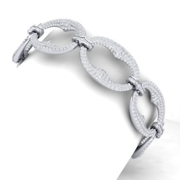 10 CTW Diamond Bracelet 18KT White Gold