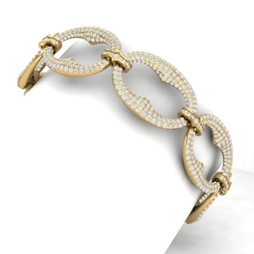 10 CTW Diamond Bracelet 18KT Yellow Gold