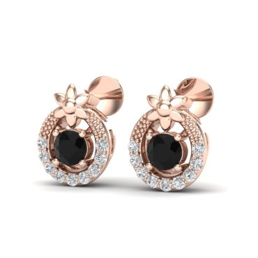 0.47 CTW Diamond Earrings 14KT Rose Gold
