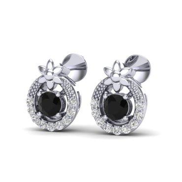 0.47 CTW Diamond Earrings 18KT White Gold