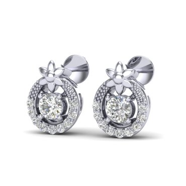 0.40 CTW Diamond Earrings 18KT White Gold