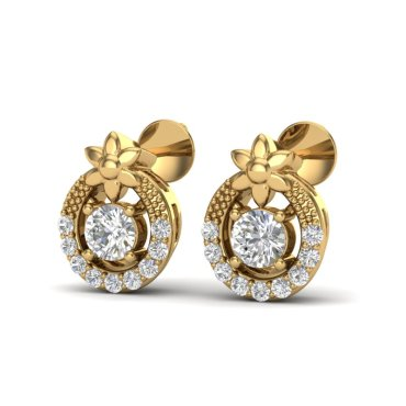 0.40 CTW Diamond Earrings 18KT Yellow Gold