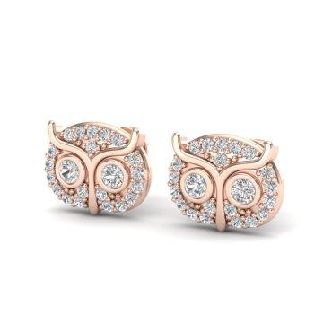 0.35 CTW Diamond Earrings 14KT Rose Gold