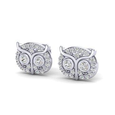 0.35 CTW Diamond Earrings 18KT White Gold