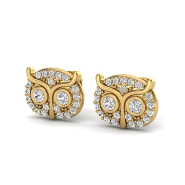 0.35 CTW Diamond Earrings 18KT Yellow Gold
