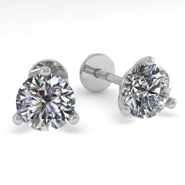 0.50 CTW Diamond Earrings 14KT White Gold