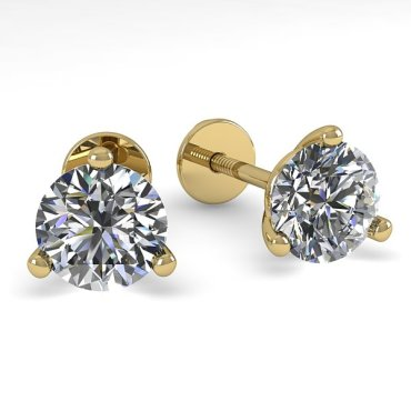 0.50 CTW Diamond Earrings 14KT Yellow Gold
