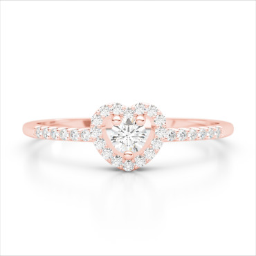 0.33 CTW Diamond Ring 14KT Rose Gold
