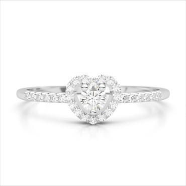 0.33 CTW Diamond Ring 18KT White Gold
