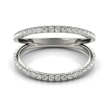 0.33 CTW Diamond Ring 14KT White Gold
